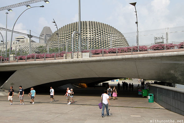Esplanade drive theatres underpass bridge Singapore