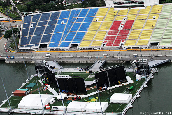 Floating stage zone 3 Singapore F1 circuit
