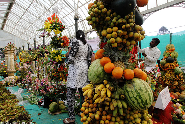 Fruits design display Lal Bagh flower show Bangalore