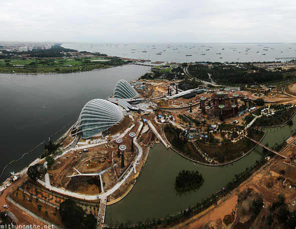 Gardens by the Bay construction panorama Singapore