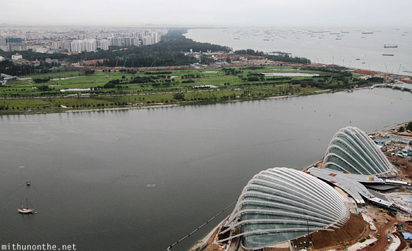 Gardens by the Bay Singapore aerial view
