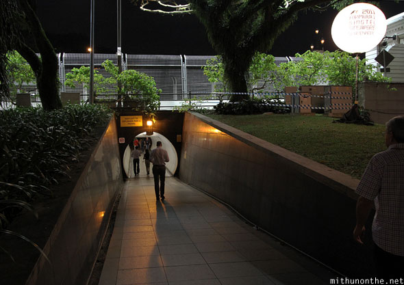 Gate 5 tunnel underpass Singapore F1