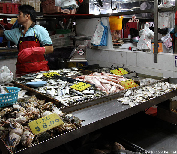 Geylang Serai market fresh fish Singapore