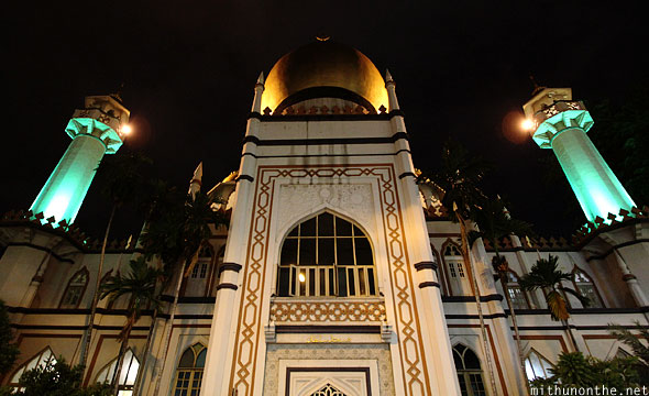Grand Sultan Mosque at night Singapore