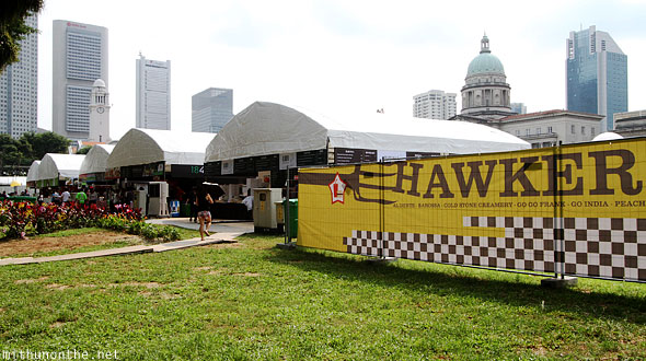 Hawker food stalls Singapore F1 grounds