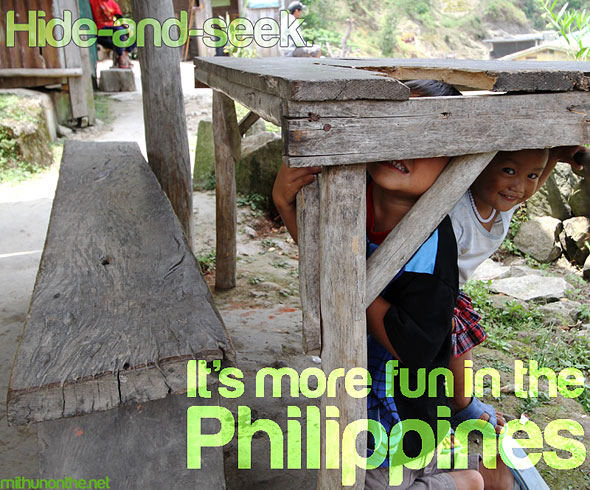 Hide and seek Batad children It's more fun in Philippines