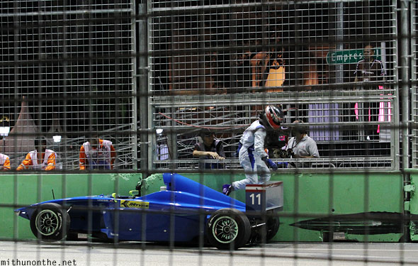 JK Racing car crash Singapore grand prix