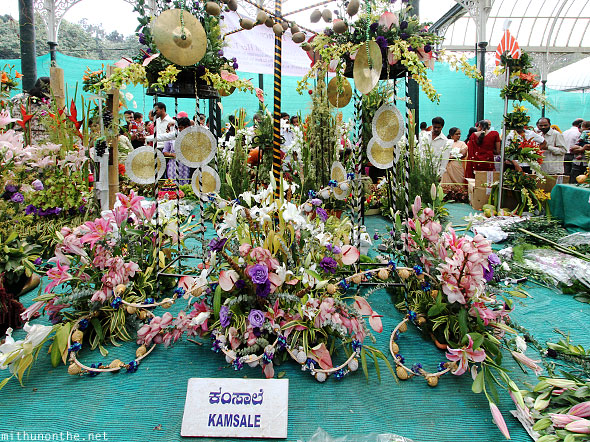 Kamsale flower arrangement Lal Bagh show Republic day
