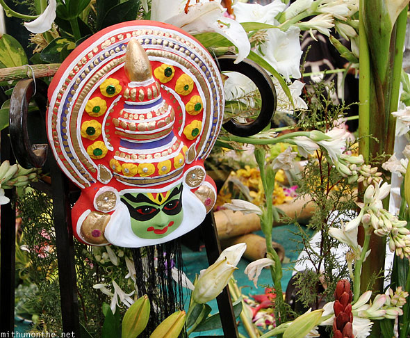 Kathakali mask flower show Lal Bagh Bangalore India
