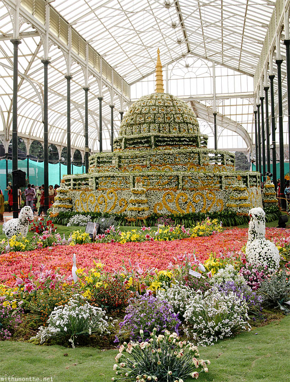 Lal Bagh Republic day flower show panorama