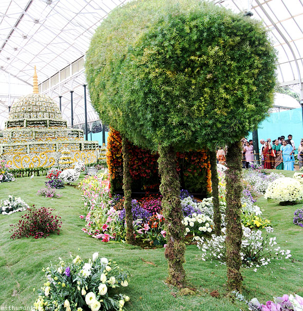 Lal Bagh flower show pot main attraction panorama