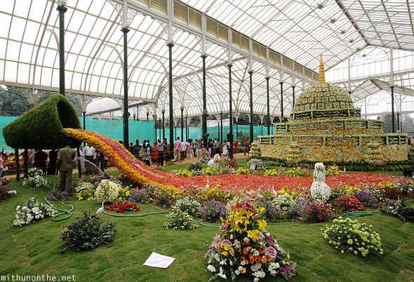 Lal Bagh glasshouse Republic day flower show main attraction Bangalore