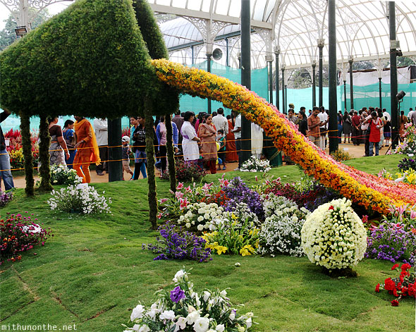 Lal Bagh Republic day flower show design panorama