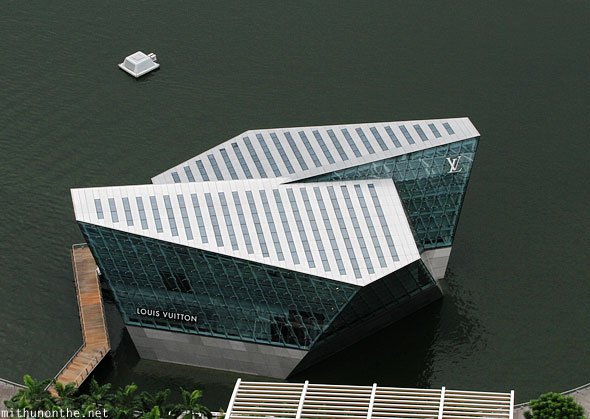 Louis Vuitton floating store Singapore Marina Bay