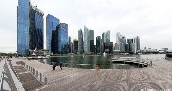 Marina Bay financial centre Singapore panorama