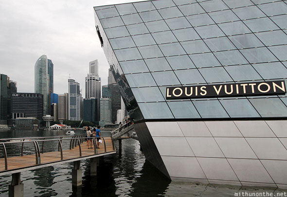 Marina Bay Louis Vuitton customers Singapore