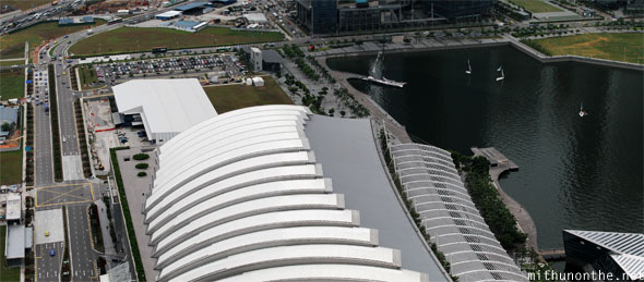 Marina Bay Sands convention centre mall roof Singapore