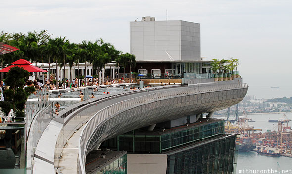 Marina Bay Sands infinity pool walkway Singapore
