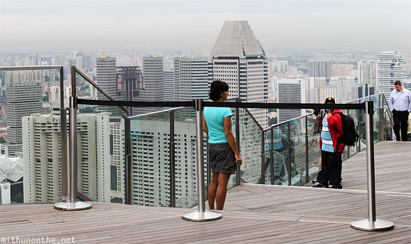 Marina bay sands skydeck steps Singapore