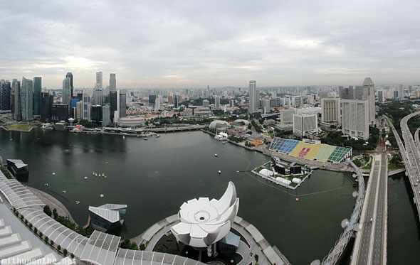 Marina Bay Sands view from skydeck panorama
