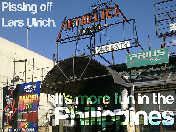 Metallica disco It's more fun in Philippines