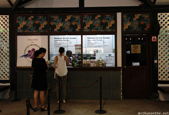 National orchid garden ticket counter Singapore