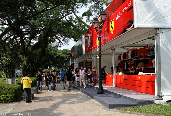 Official F1 merchandise stalls Singapore Grand Prix
