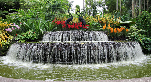 Orchid park fountain Singapore