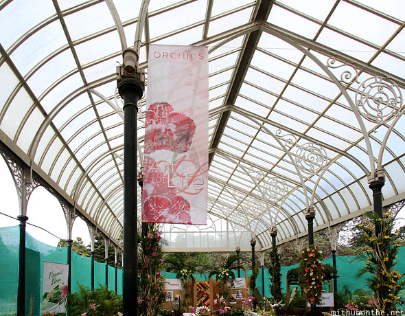 Orchids Art of Life exhibit Lal Bagh flower show Bangalore