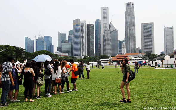 Padang lawn Friday afternoon Singapore GP