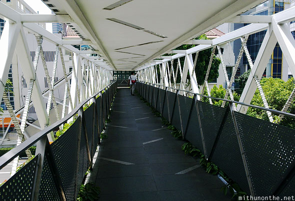 Pedestrian overbridge New Bridge road Singapore