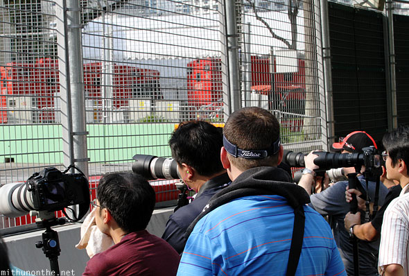 Photographers F1 Friday zone 4 Singapore gp