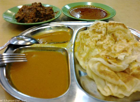 Prata beef curry Malay food Singapore