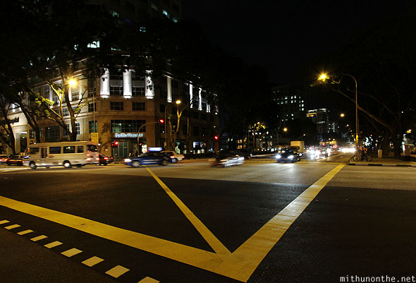 Raffles hospital junction Singapore at night