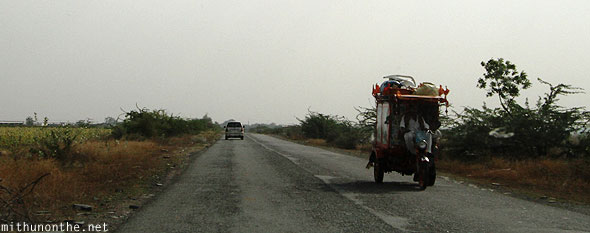 Road to Anantapur tricycle Andhra Pradesh India