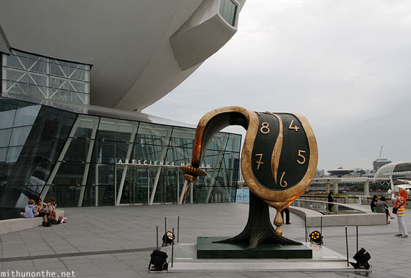 Salvador Dali melting clock display museum Singapore