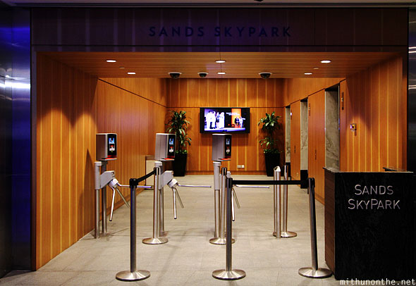 Sands SkyPark entrance Singapore