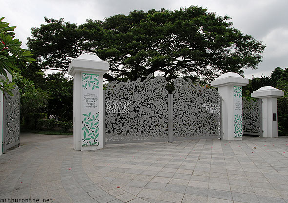 Singapore Botanic Gardens entrance gates