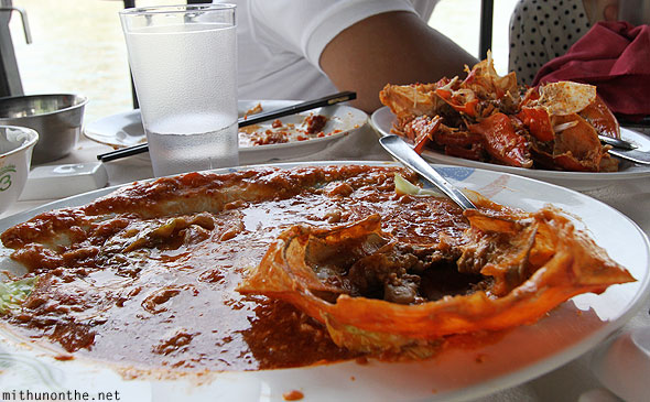 Singapore chilli crab after