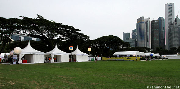 Singapore F1 Friday Padang tents