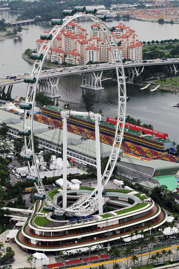 Singapore Flyer observation wheel panorama