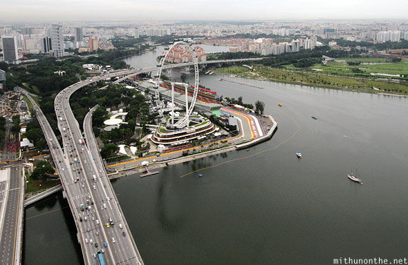 Singapore Flyer view from Sands skypark