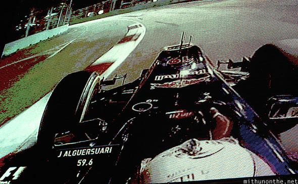 Singapore grand prix Friday race Jumbotron
