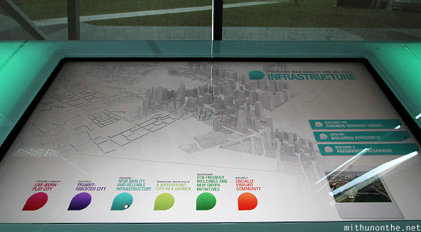 Singapore infrastructure interactive display