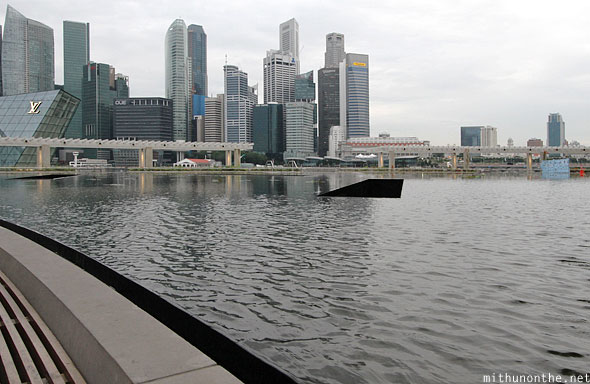 Singapore marina bay arts Science pool