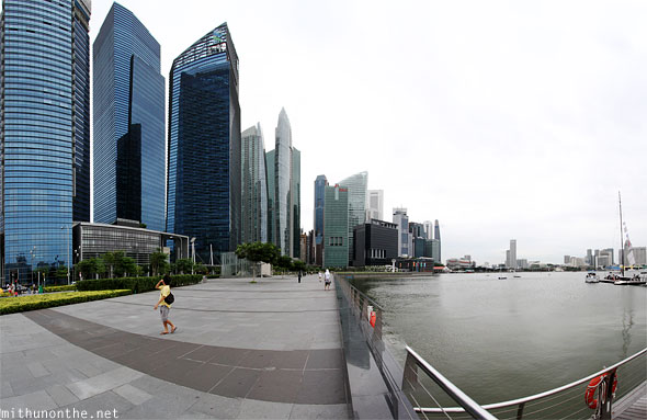 Singapore Marina Bay financial center buildings