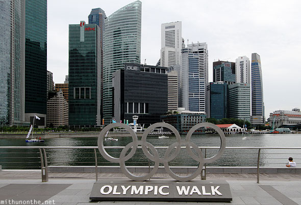 Singapore Marina Bay Olympic walk