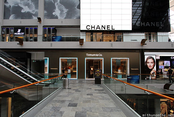 Singapore Marina Bay Sands mall Chanel Tiffany & Co
