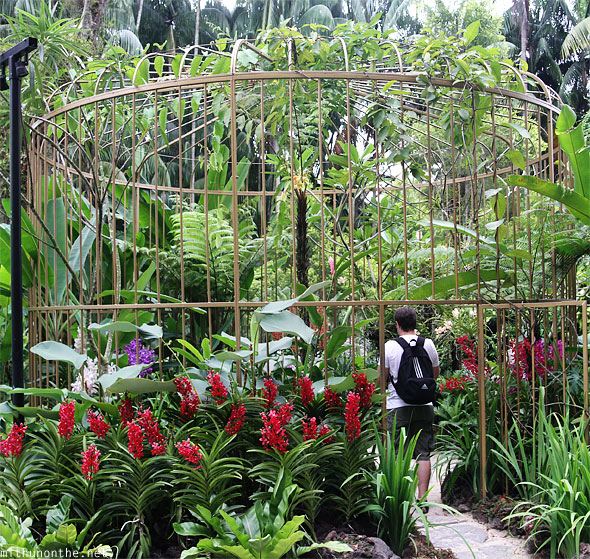 Singapore Orchid garden huge cage