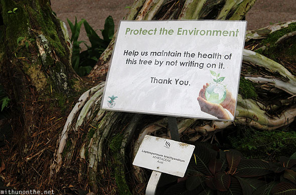 Singapore orchid garden protect environment